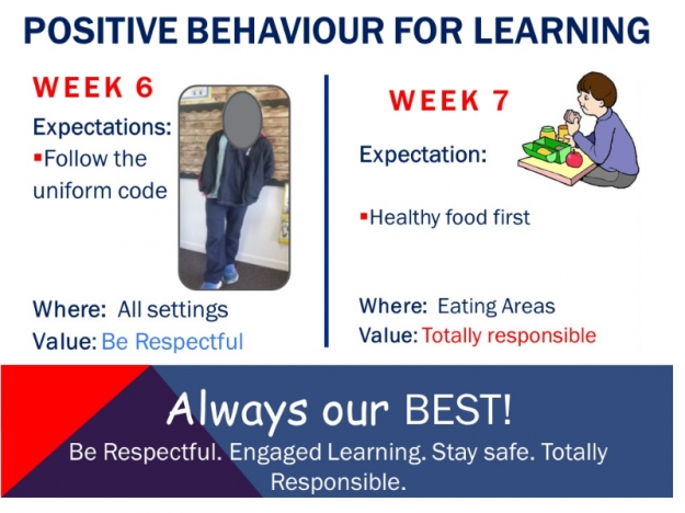 Positive Behaviour for Learning- Term 2, Week 6-7