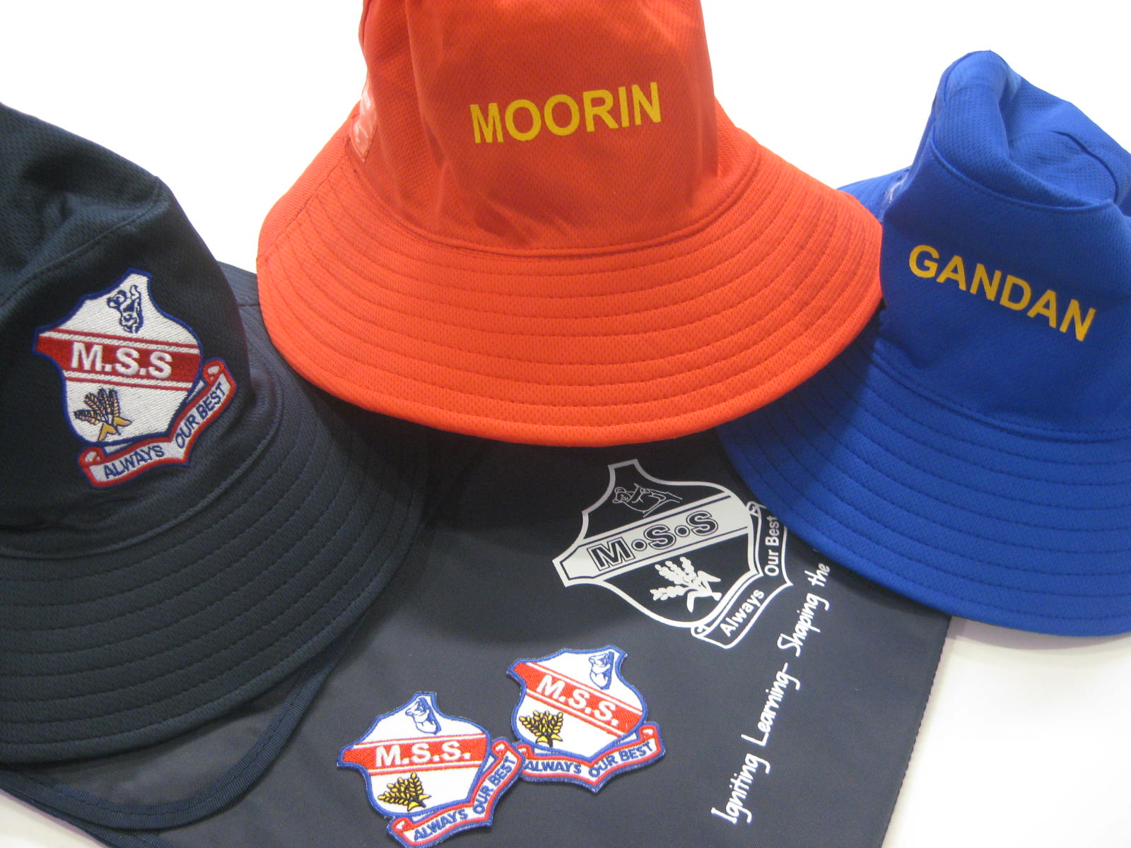 P&C School Hats, Badges and Communication Folders